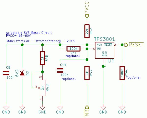 TPS3801 Adjust