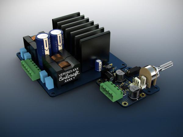 TPA3251D2 Mockup Blue (vs TPA3132D2) #1