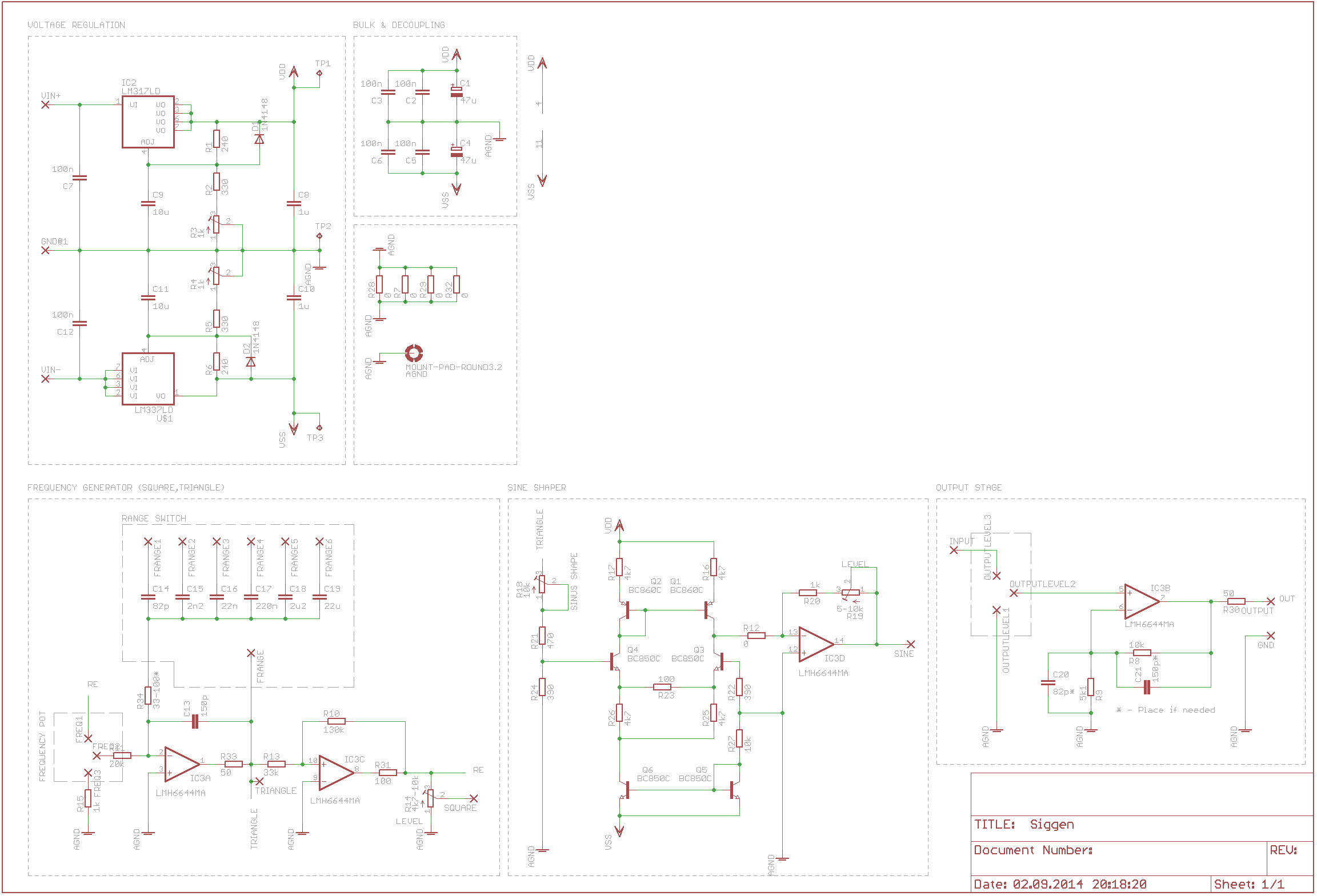 Signal Frequency Function Generator 01hz 200khz Sine Square Pulse Or Waveform Circuit Schematic V1